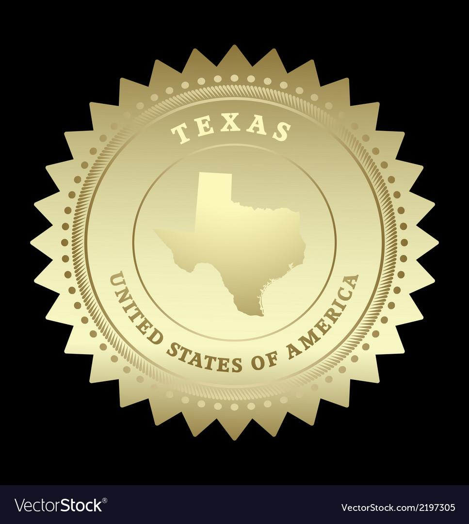 Gold star label Texas