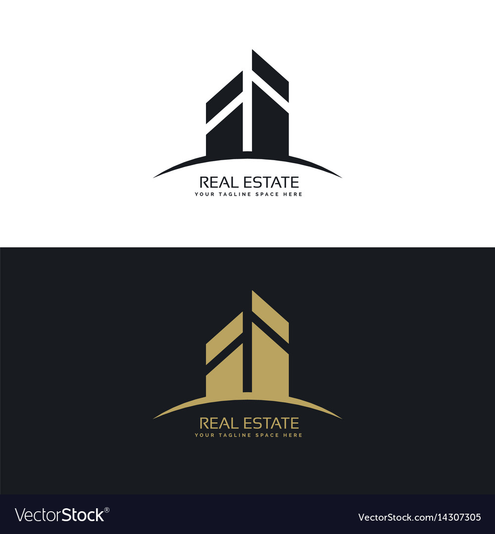 Modern clean real estate logo design concept vector image