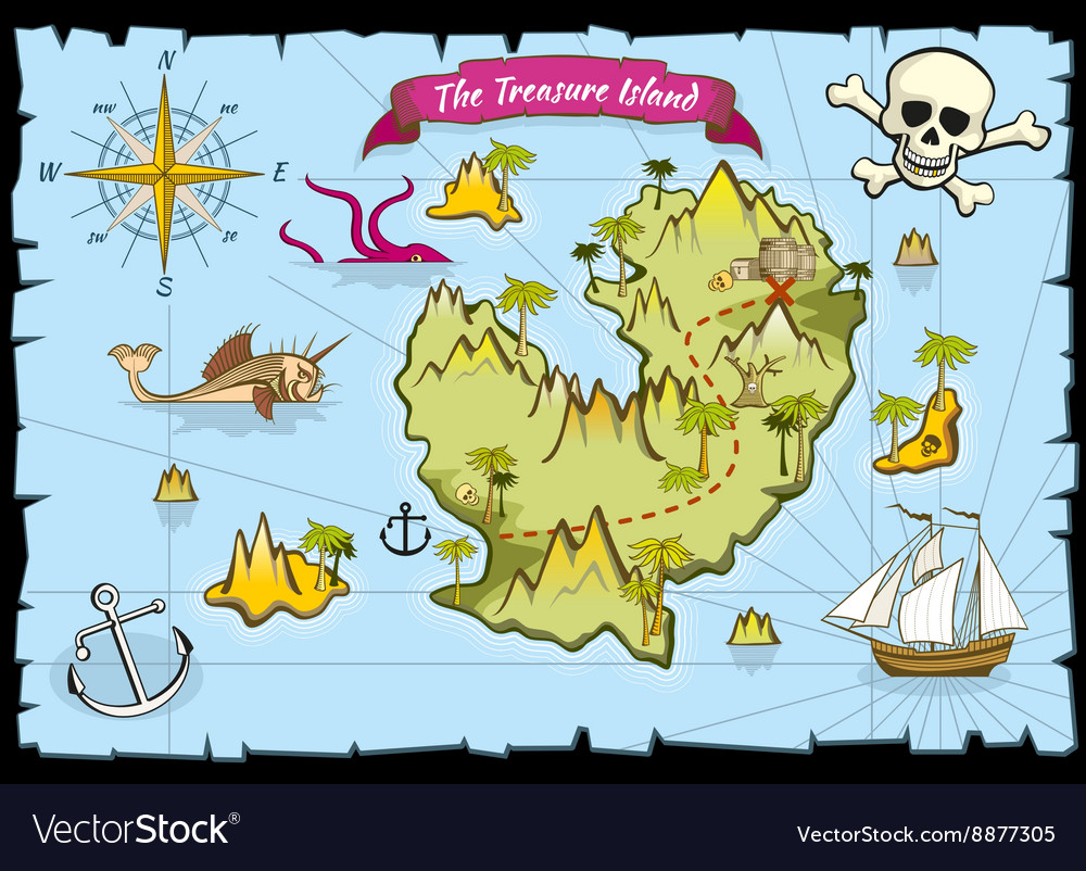Pirate treasure color map