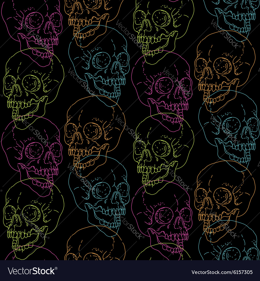 Skull pattern black