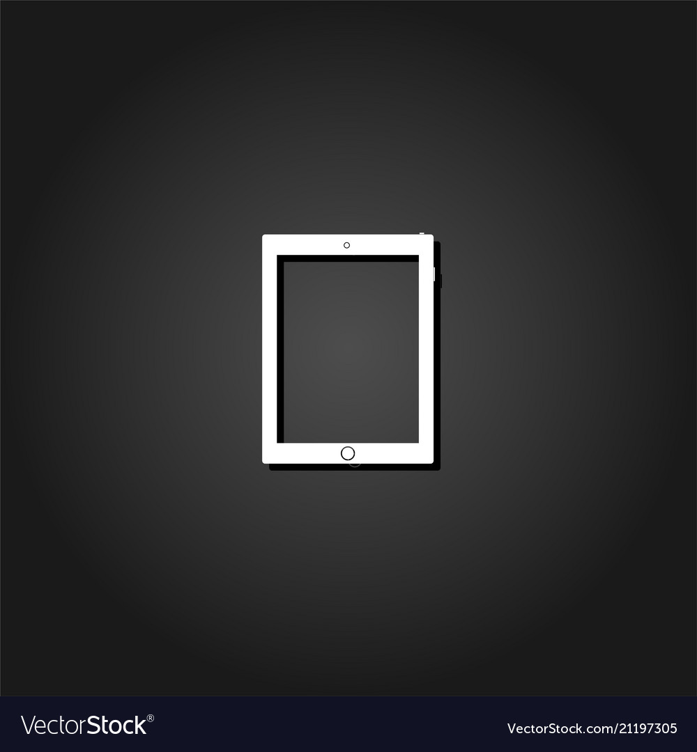 Tablet icon flat