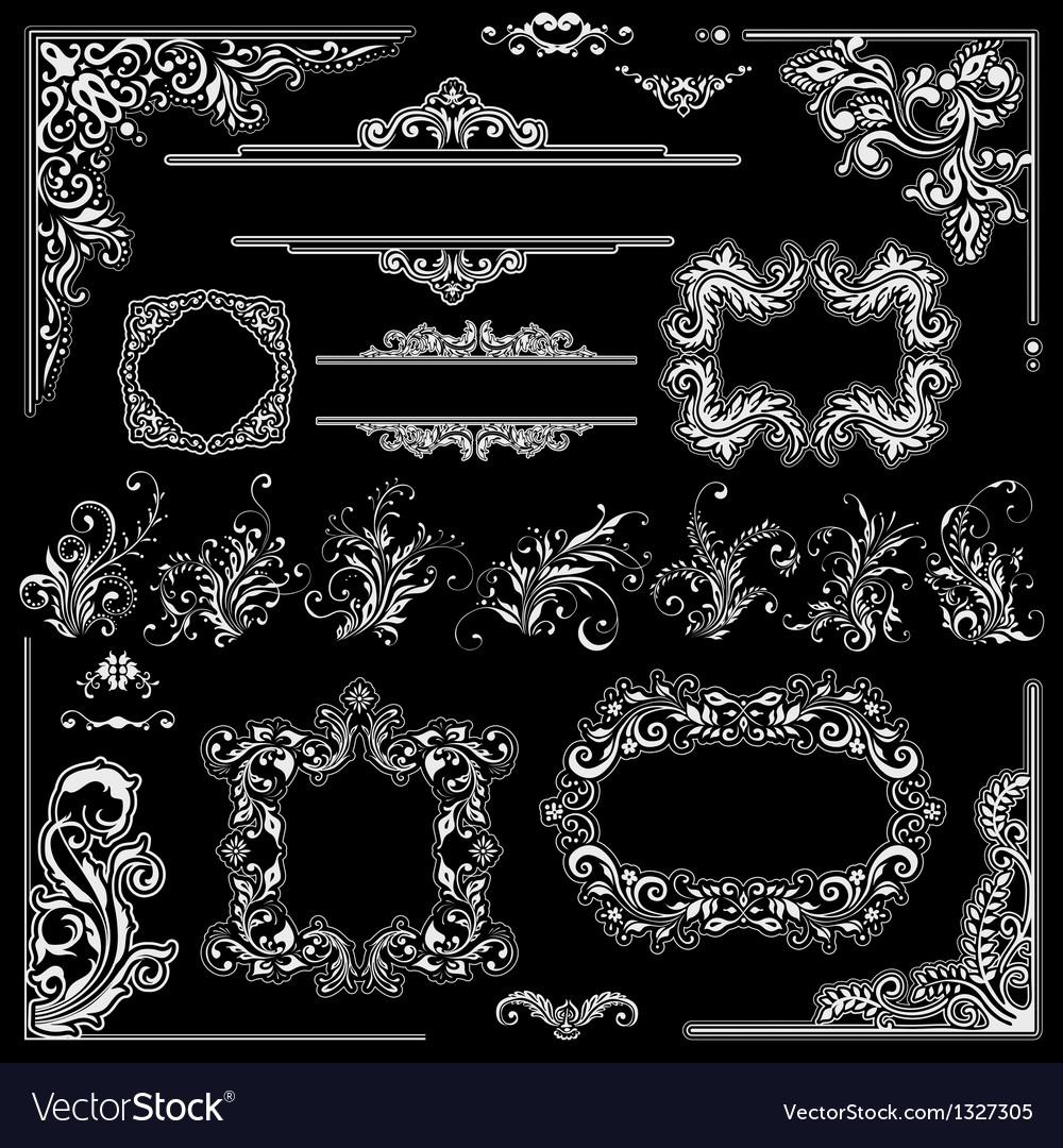 Wedding frames decoration design vector image
