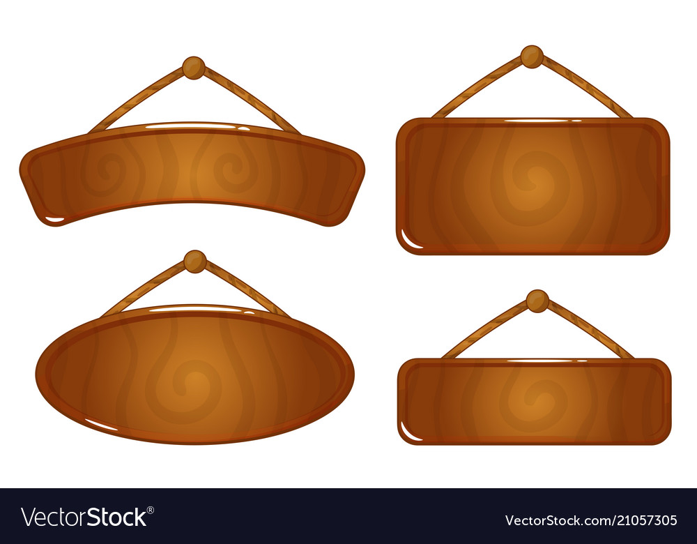 Wooden icon game asset on white background