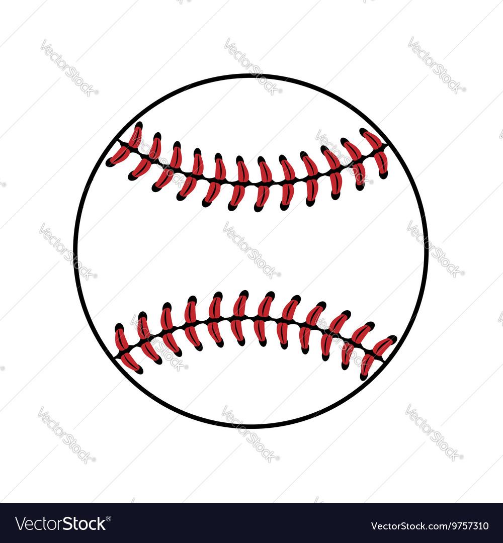 Baseball ball sign isolated