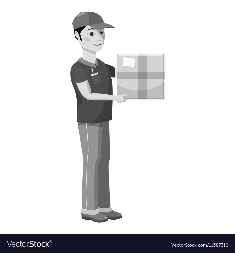 Courier icon gray monochrome style vector image