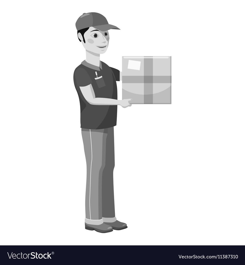 Courier icon gray monochrome style