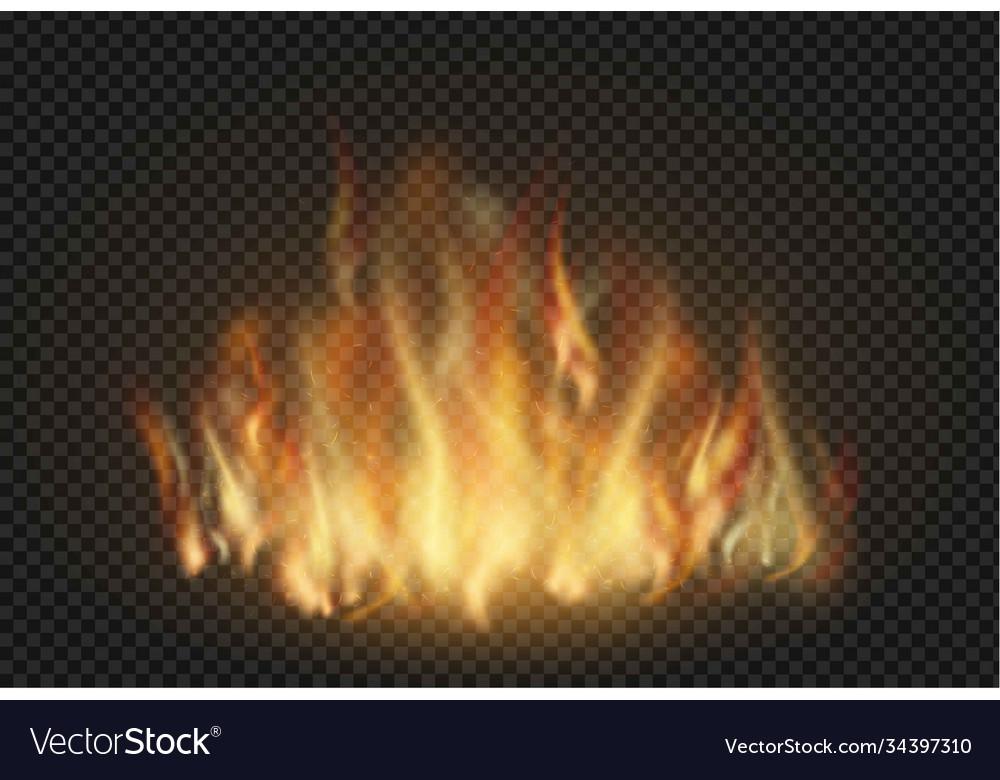 Forks flame realistic set
