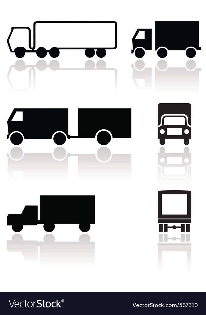 Truck van symbol set