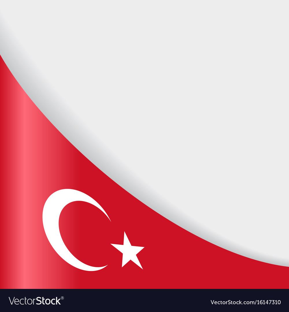 turkish flag background royalty free vector image