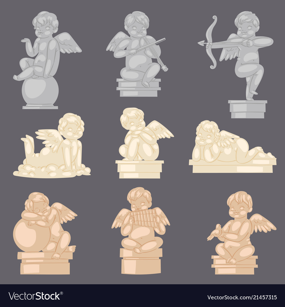 Angel statue angelic cupid sculpture and