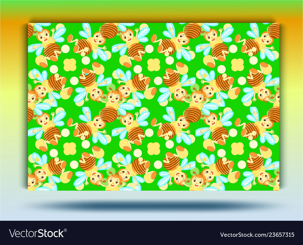 Background bee patternset