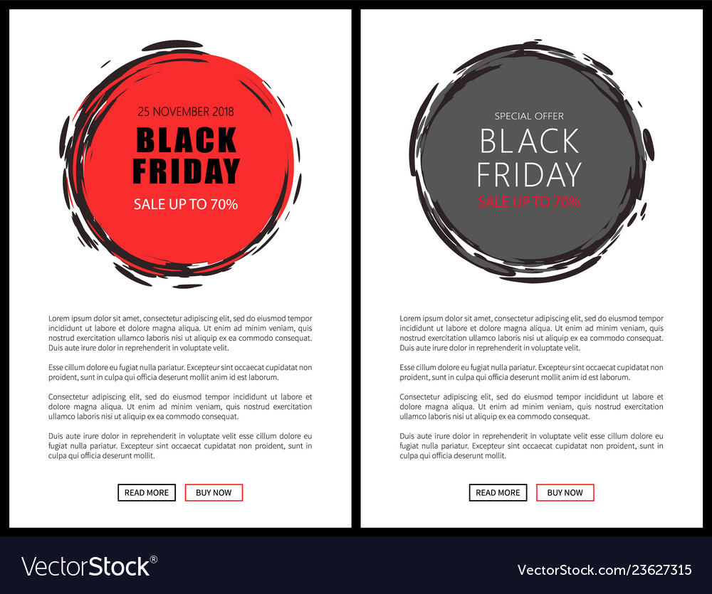 Black friday price reduction badges on web pages