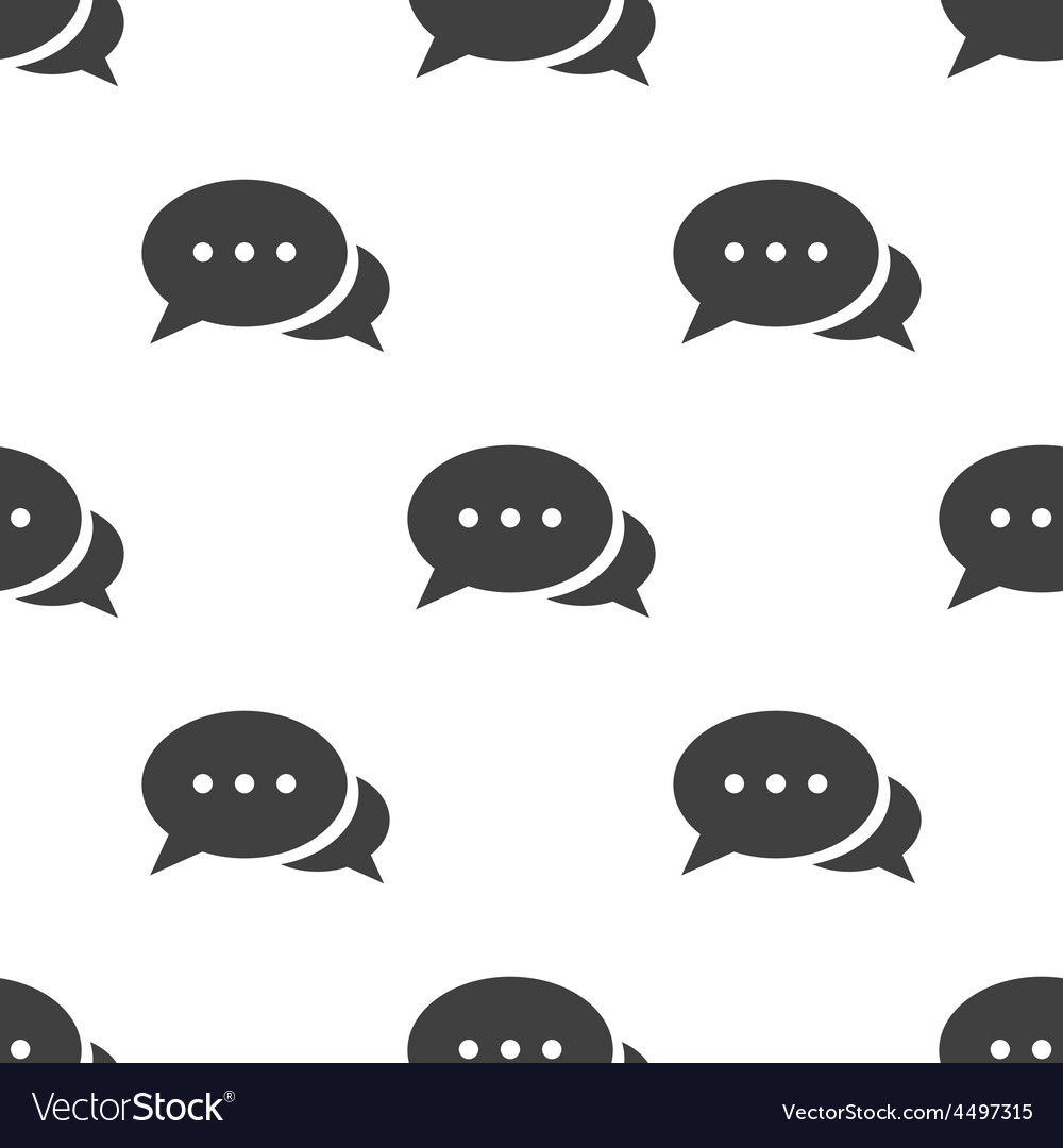 Chat seamless pattern
