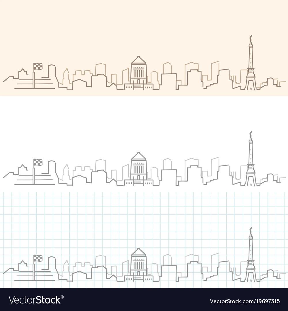 Indianapolis hand drawn skyline