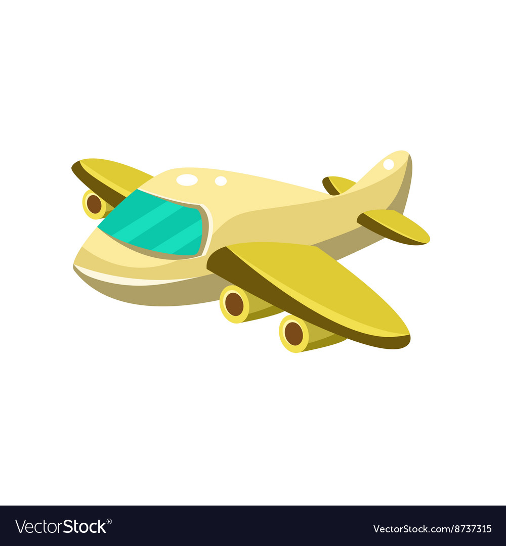 Little Plane Toy Aircraft Icon Royalty Free Vector Image