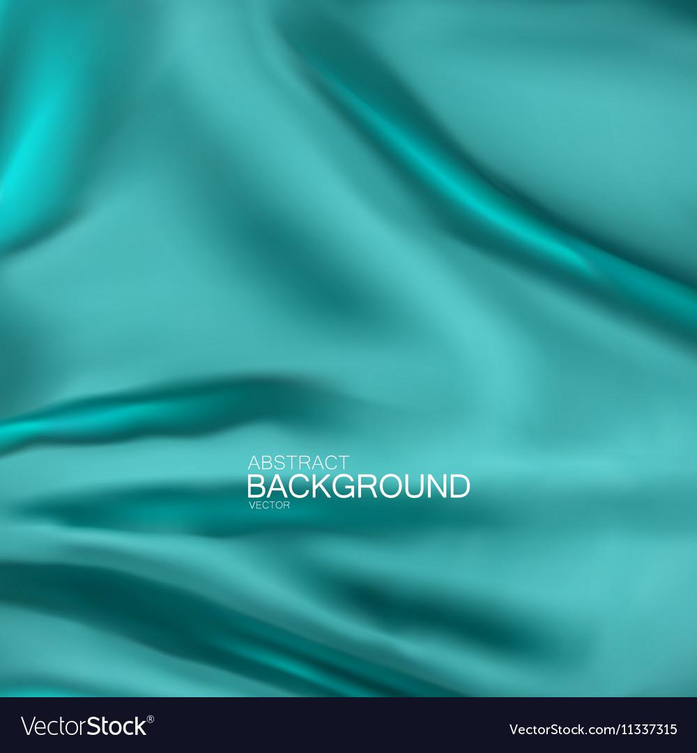 Turquoise silk fabric