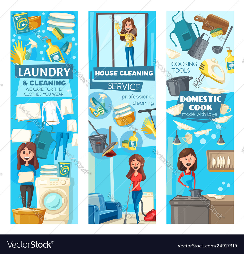 Women cleaners cleaning service doing housework