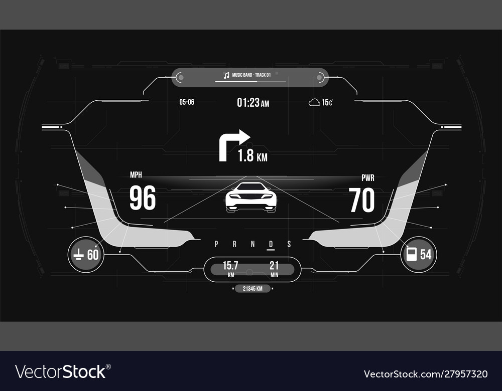 Cars infographic ui analysis and diagnostics in