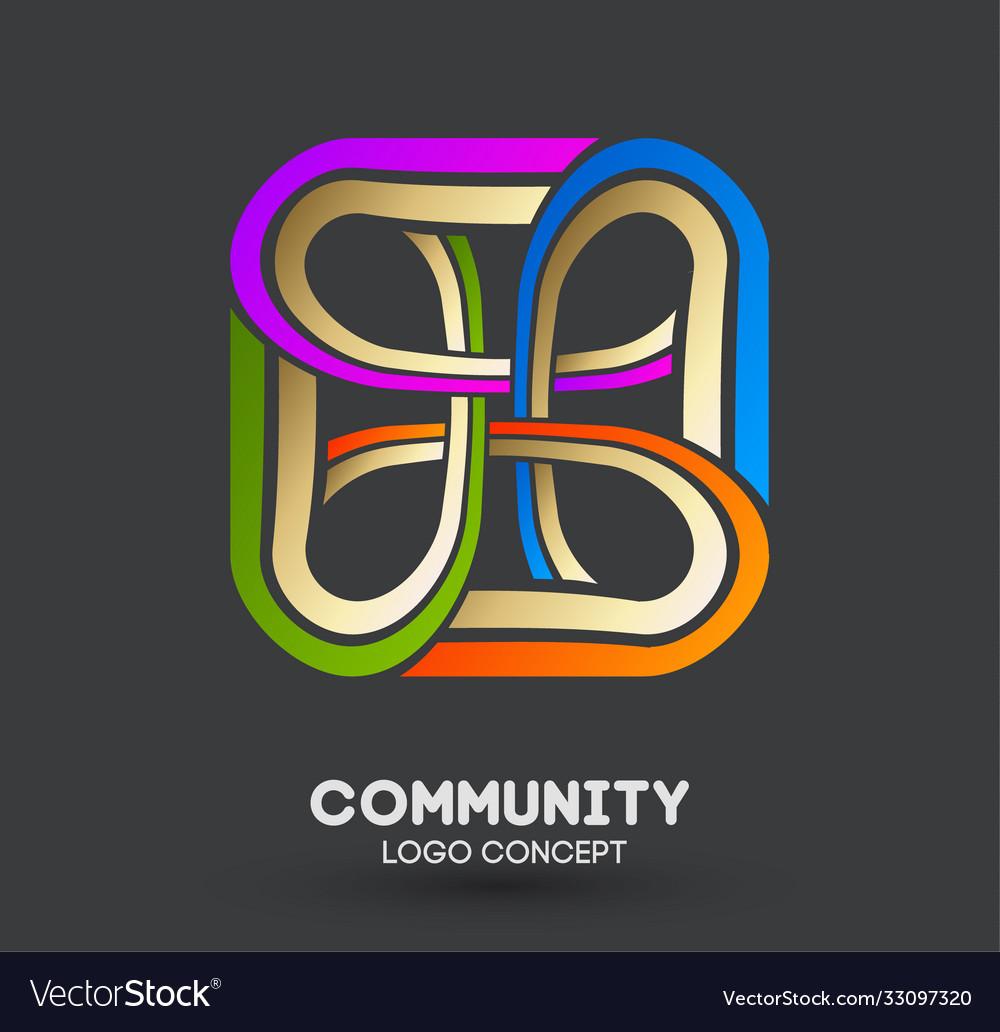 Connecting people logo logo design company