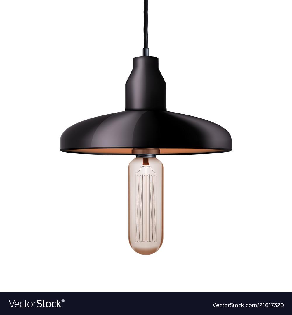 Decorative edison light bulb with chandelier vector image aloadofball Images