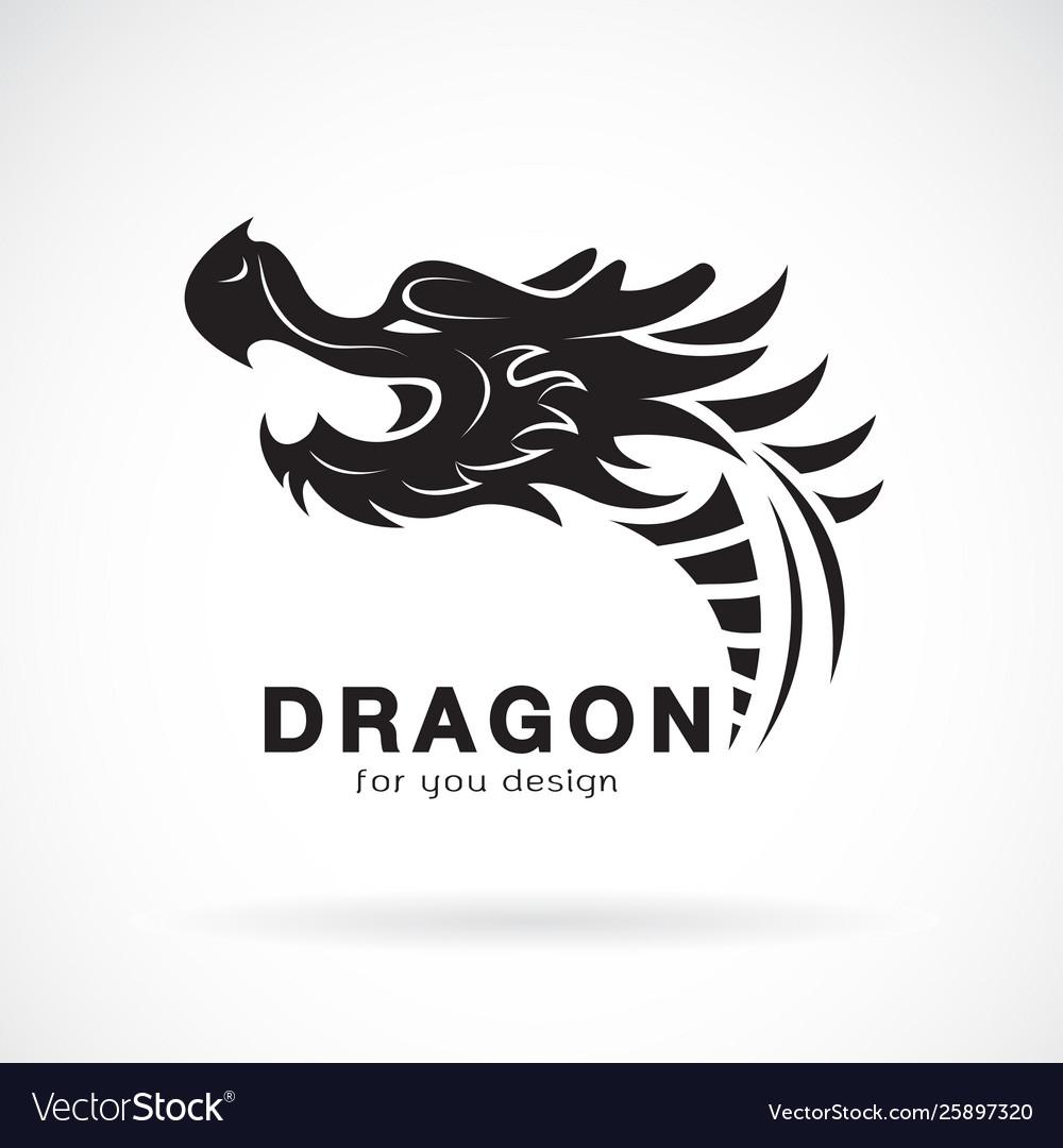 Dragon head design on a white background animals