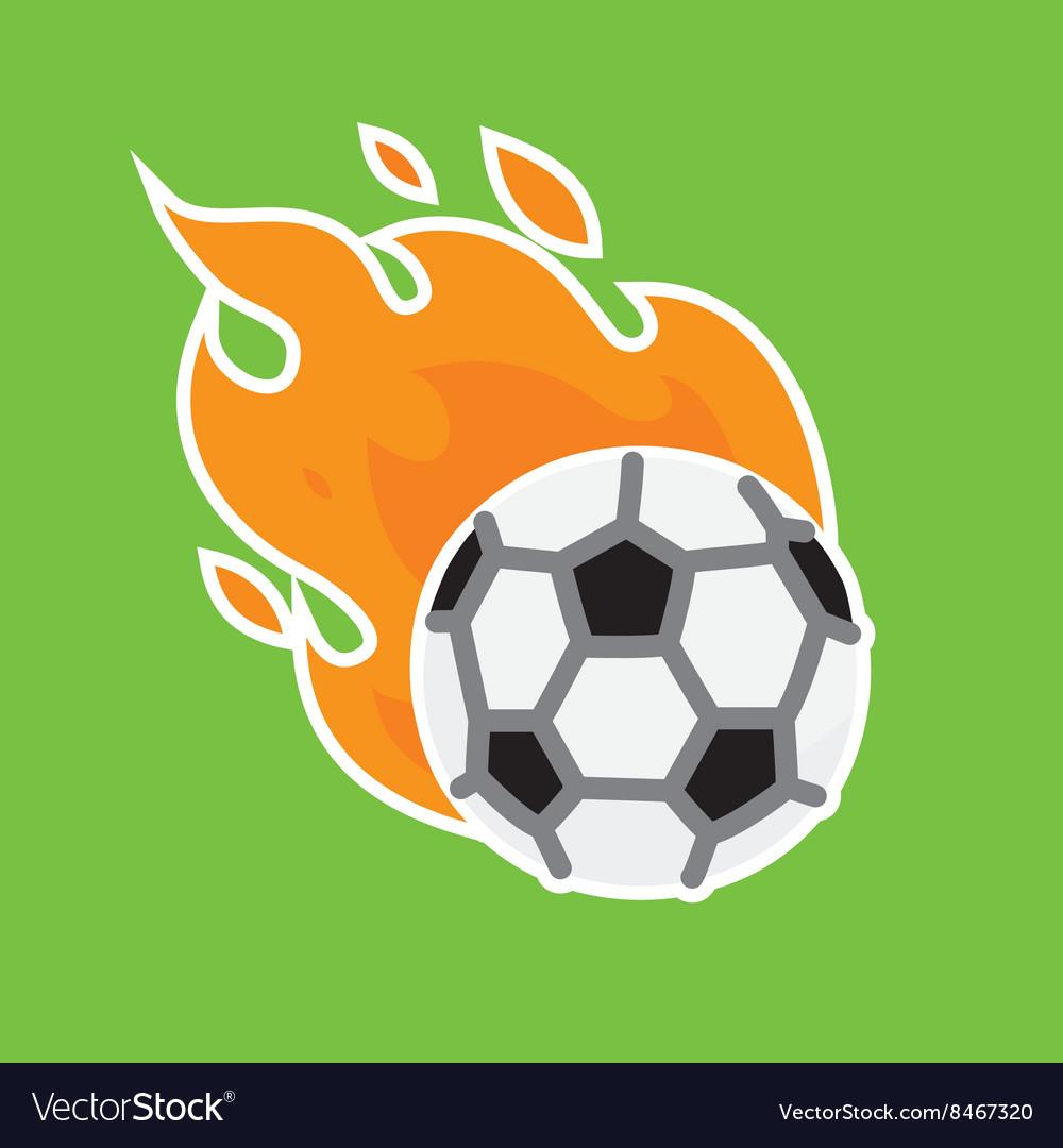 Football team icon template vector image
