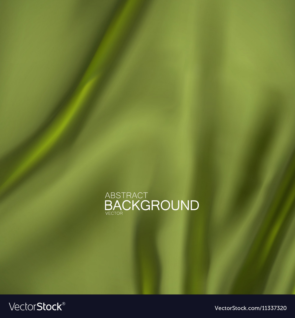 Green olive color silk fabric
