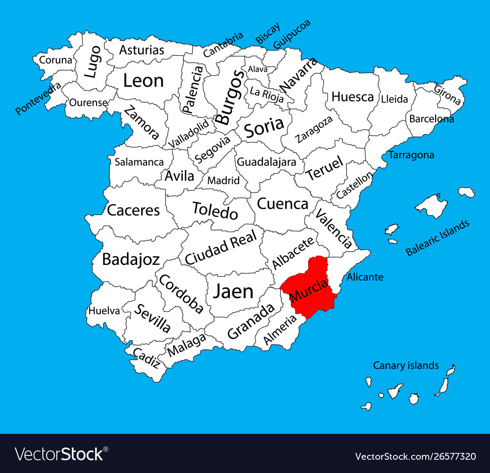 Map Of Spain Murcia.Murcia Map Spain Province Administrative Map