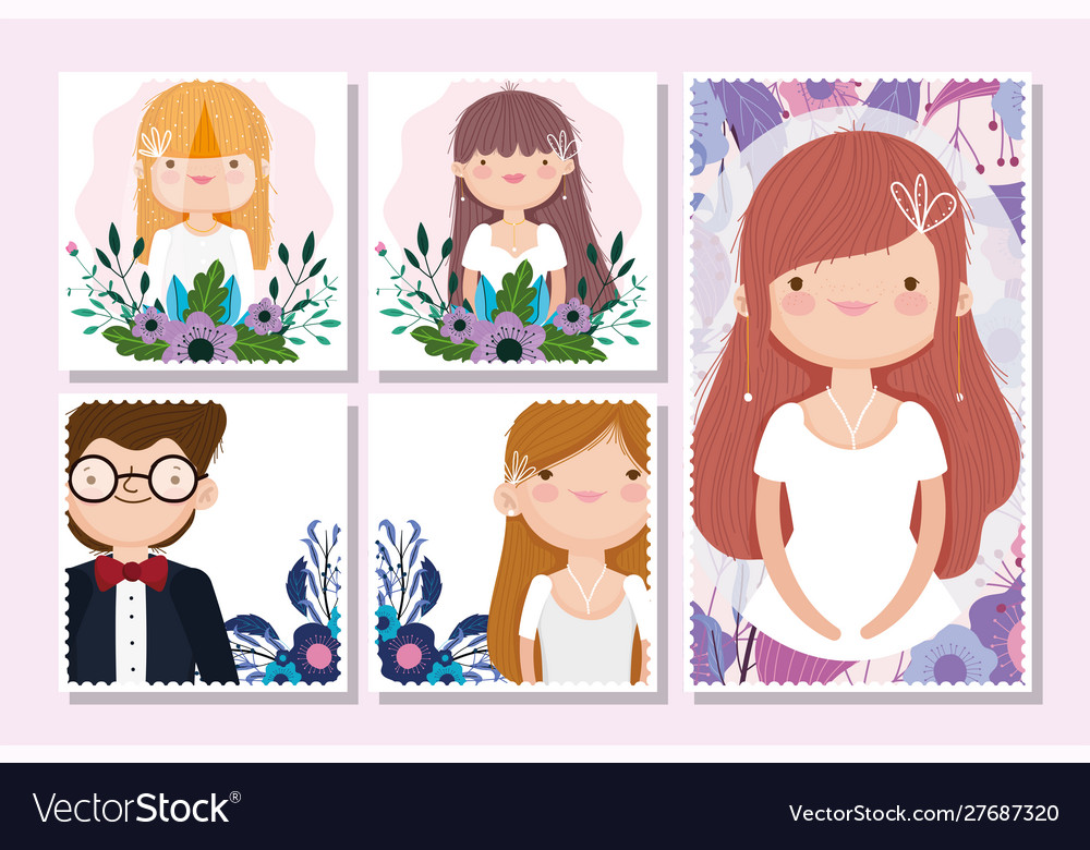 Wedding groom and bride flower celebration