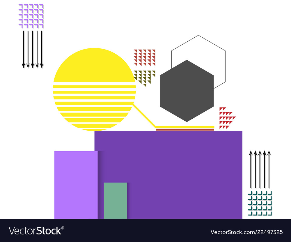 Abstract art geometric background with flat and