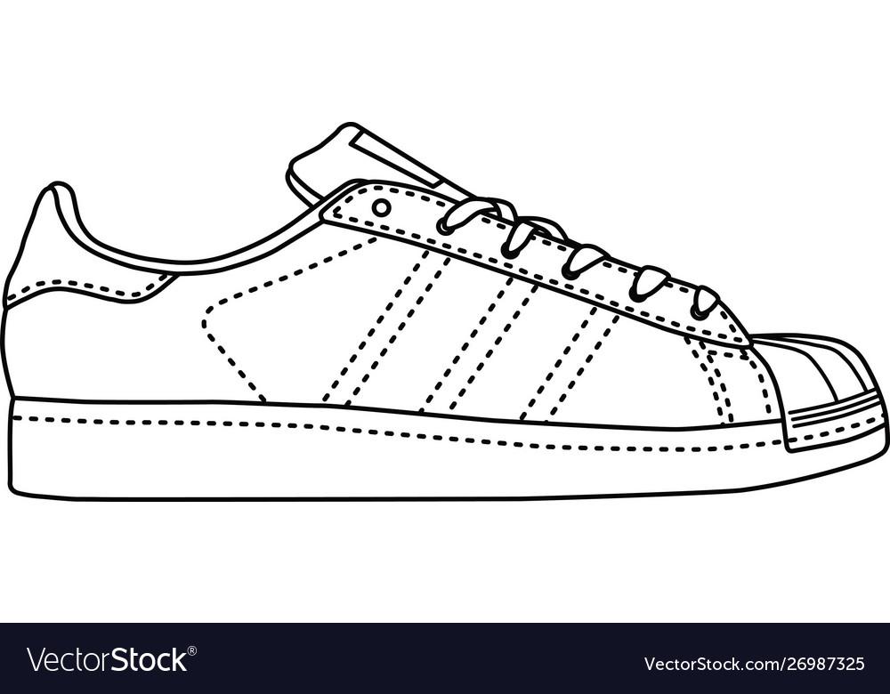 caja registradora admirar Monetario  Adidas superstar Royalty Free Vector Image - VectorStock
