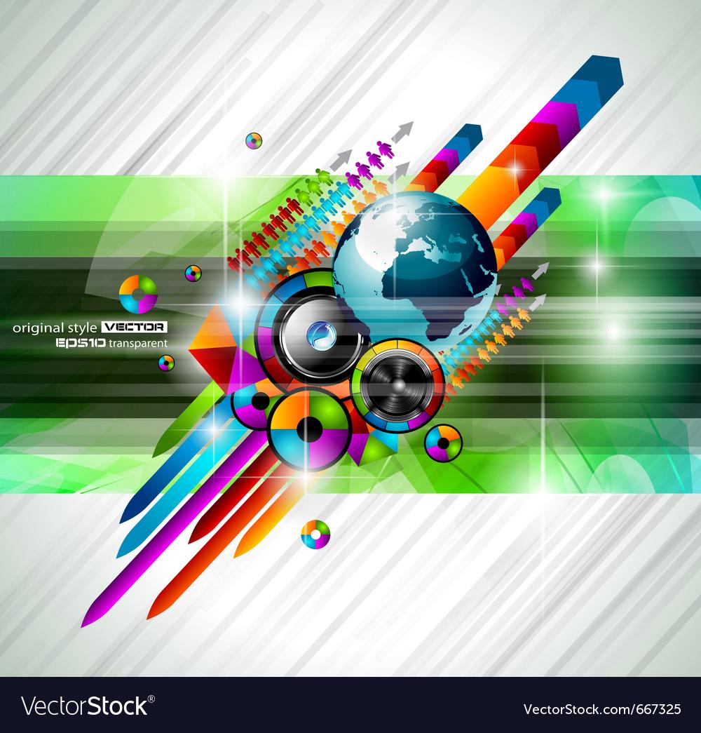 Alternative discoteque vector image