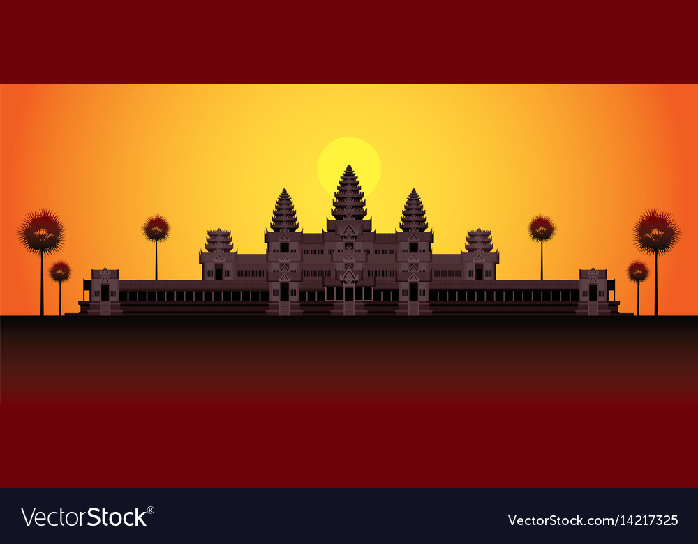 Angkor wat in sunrise cambodia