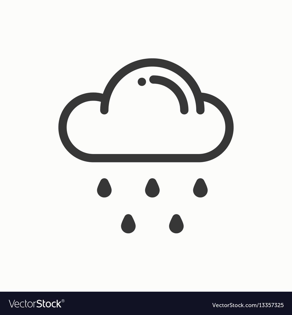 Cloud sky rain line simple icon weather