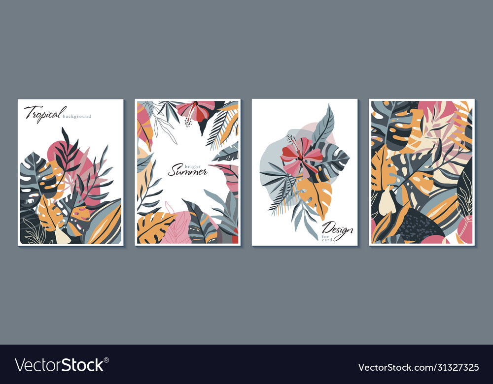 Collection trendy creative cards