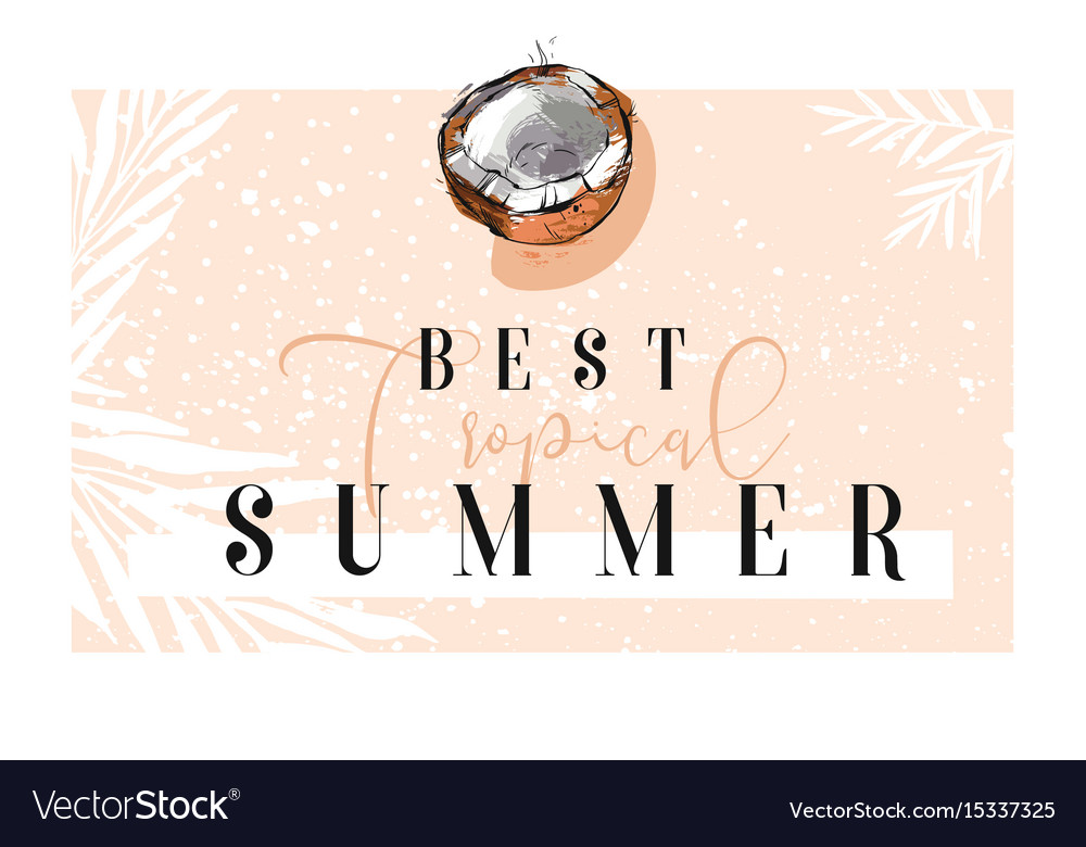 Hand drawn abstract summer time border with vector image
