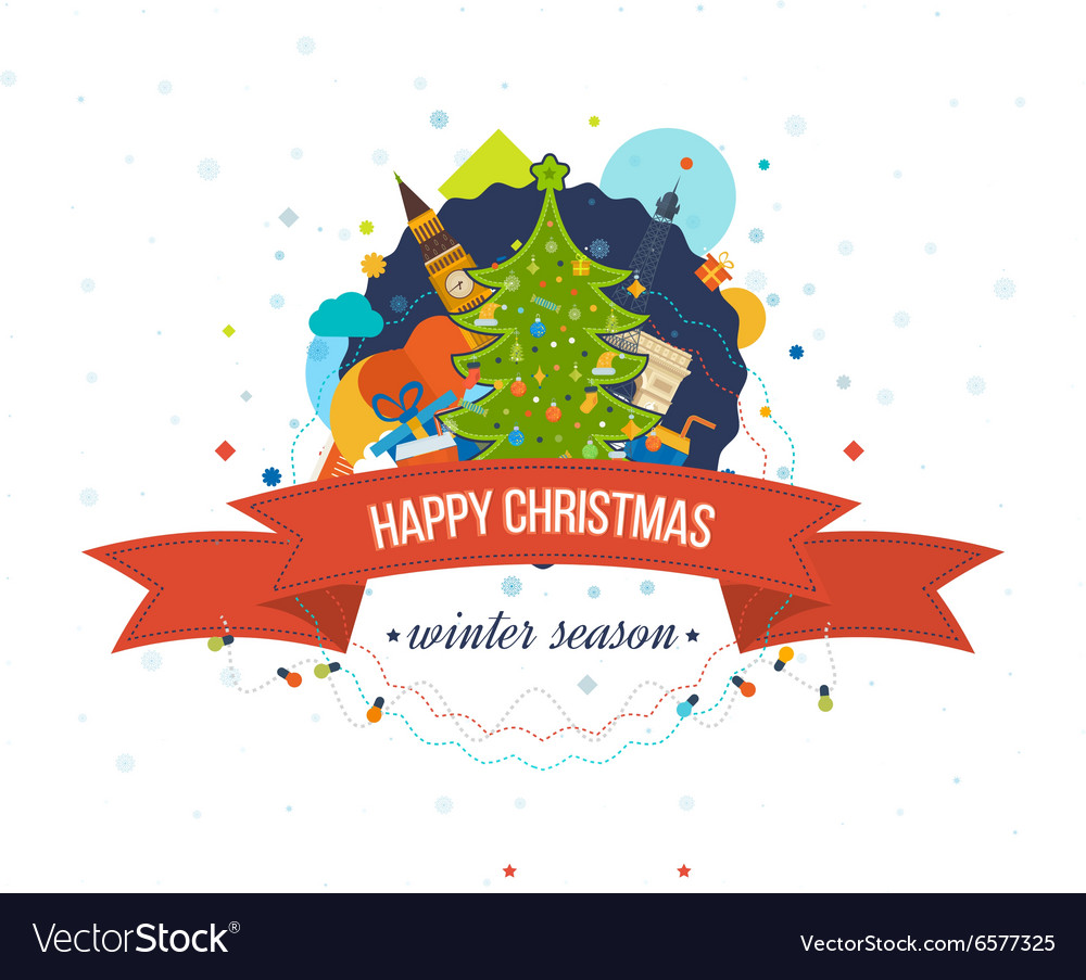 Happy new year 2016 creative greeting card design vector image m4hsunfo