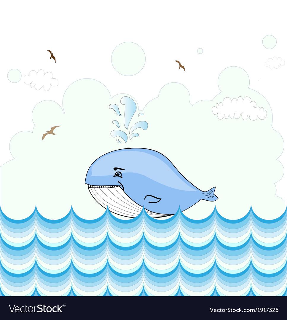 Little whale card design