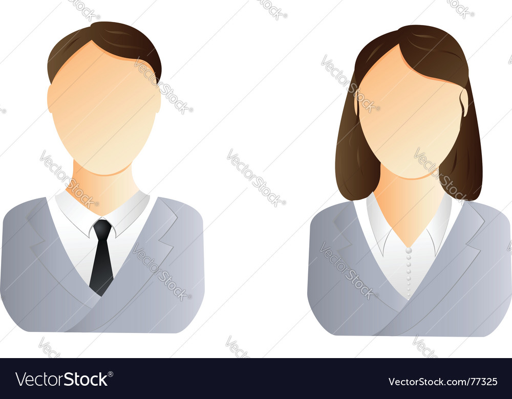 Man and woman user icon vector image