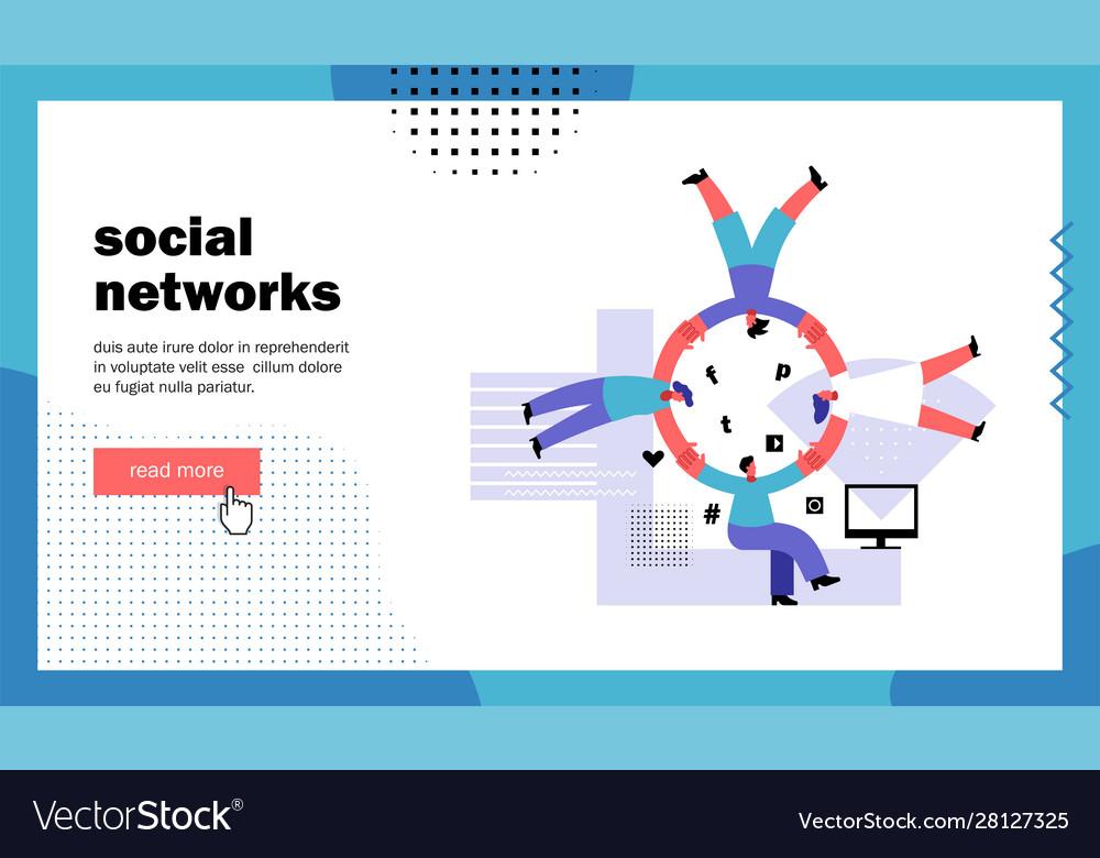 Social network website landing page