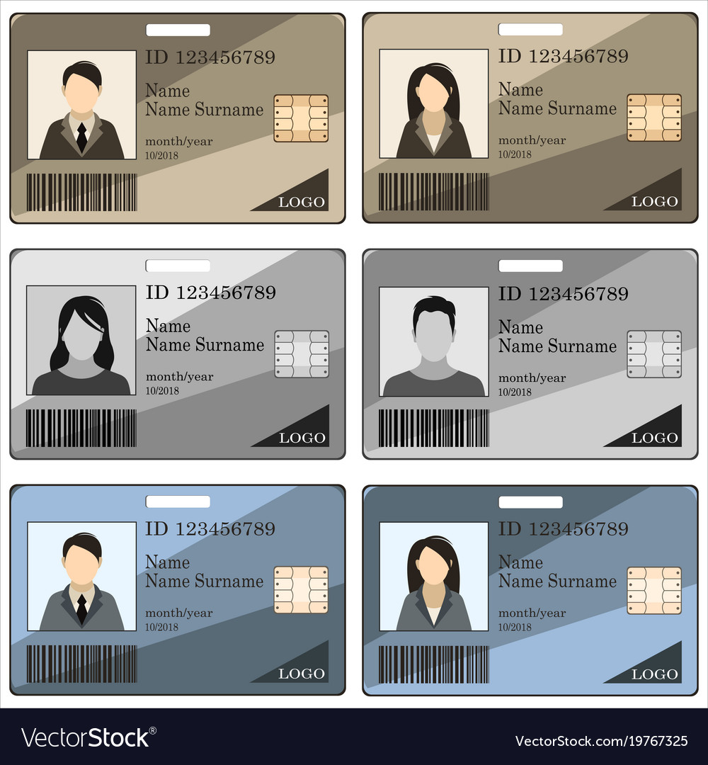 Template Id Card Royalty Free Vector Image Vectorstock