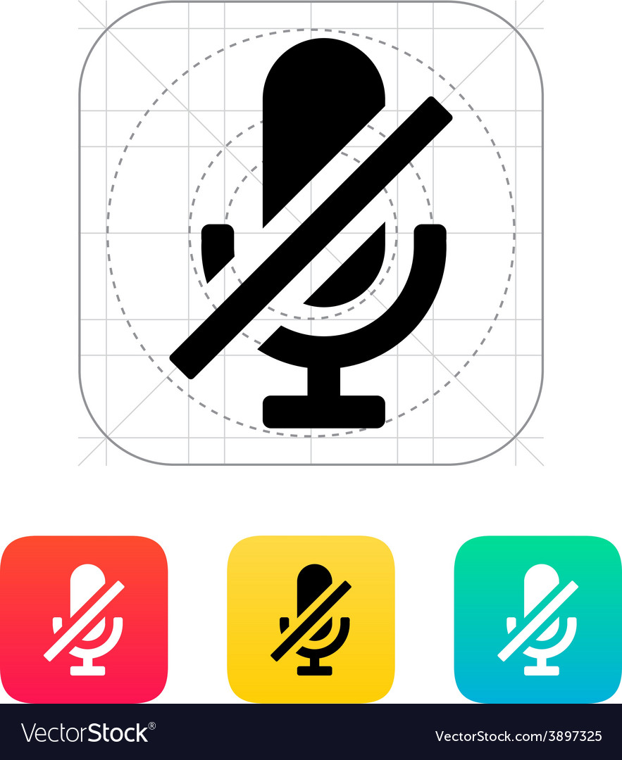 Turn off microphone icon