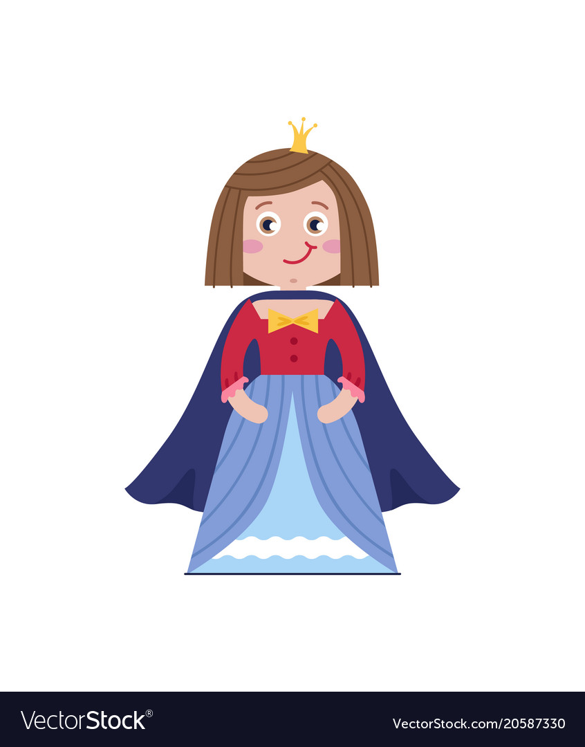 Beautiful queen in blue dress