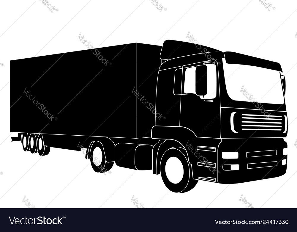 Detailed truck silhouette