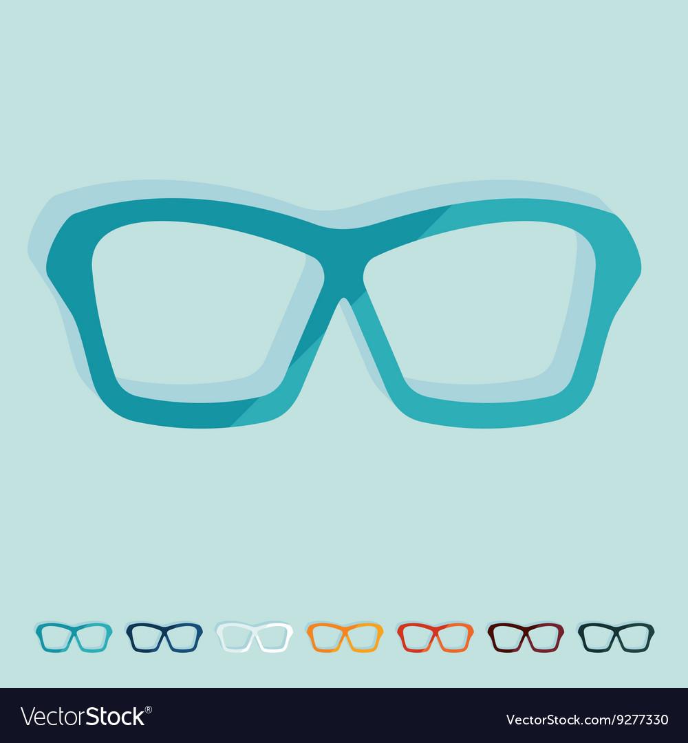 Flat design glasses