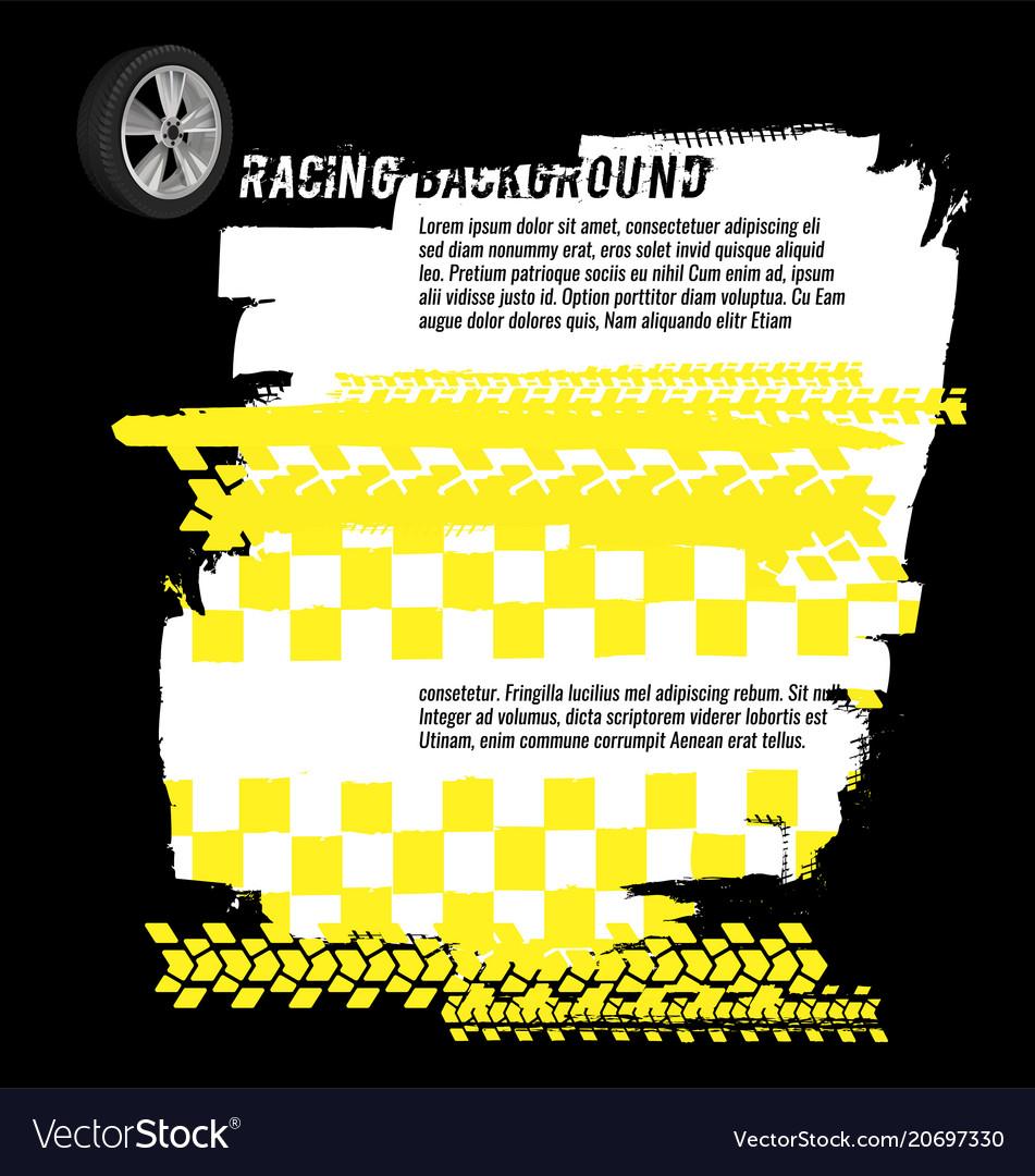 Grunge checkered racing banner