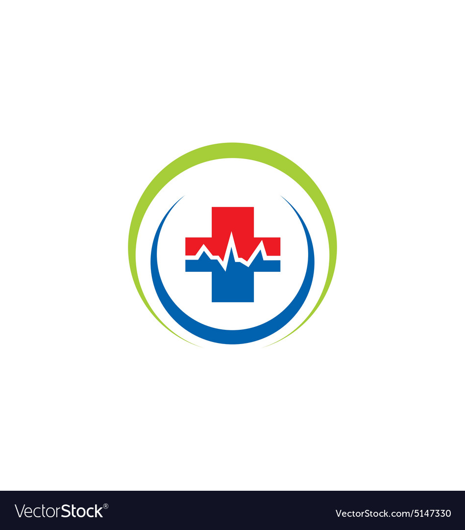 medic cross sign hospital logo royalty free vector image
