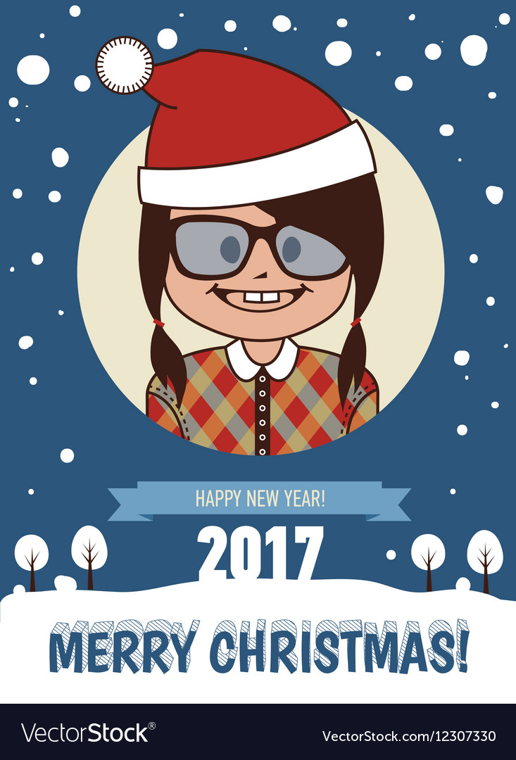 Merry Christmas and Happy New Year 2017 card