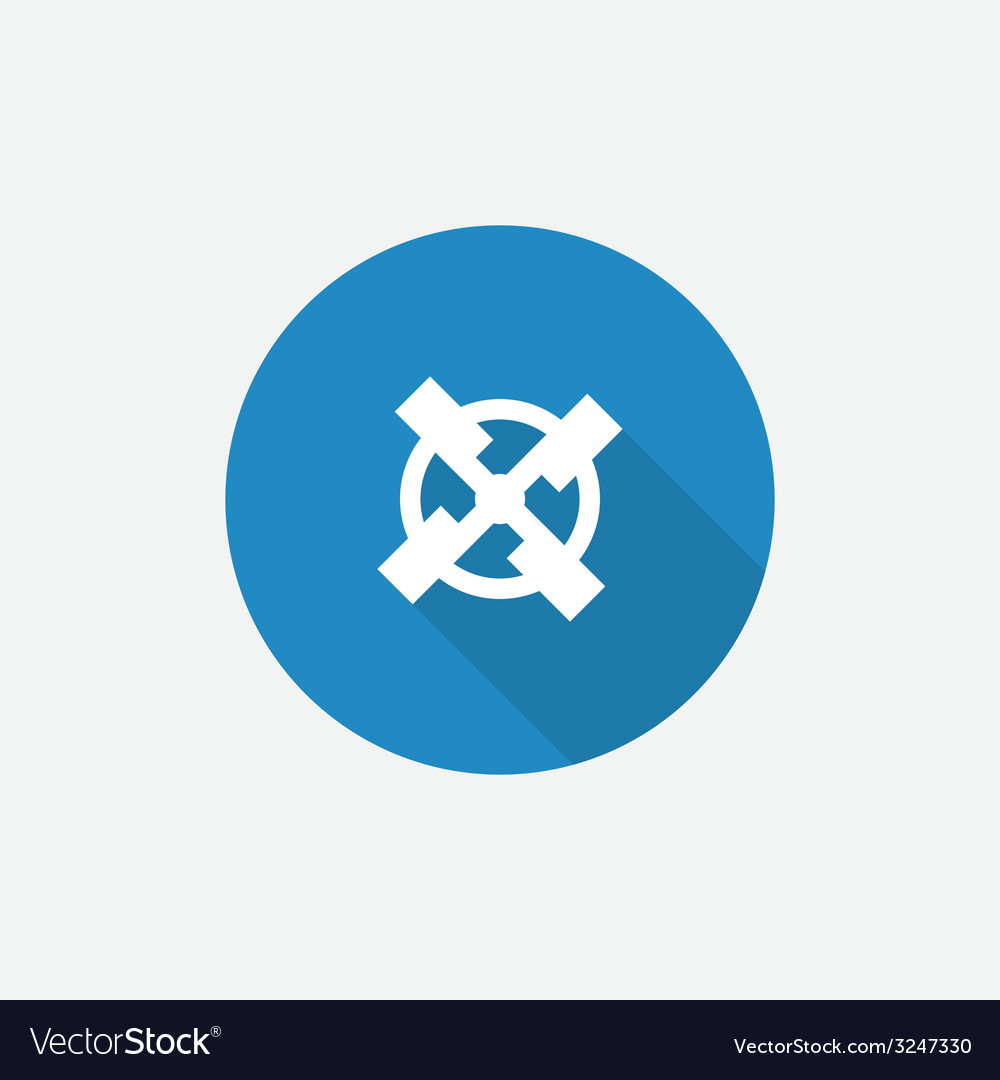 Mill Flat Blue Simple Icon with long shadow