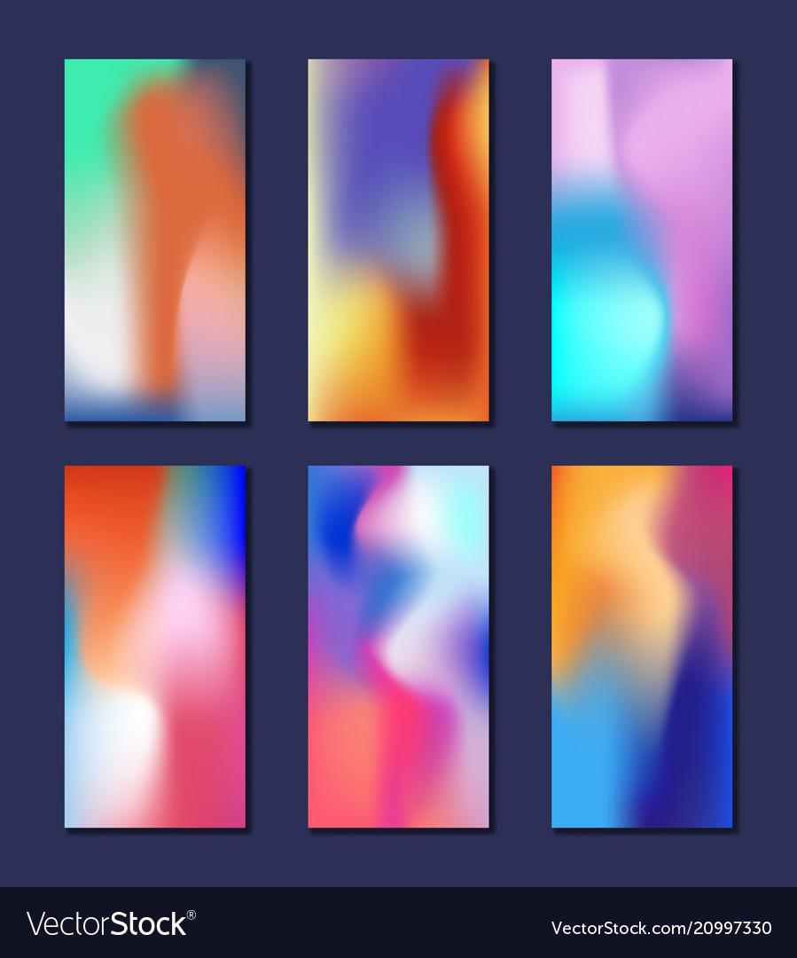 Modern abstract fluid 3d shapes trendy liquid